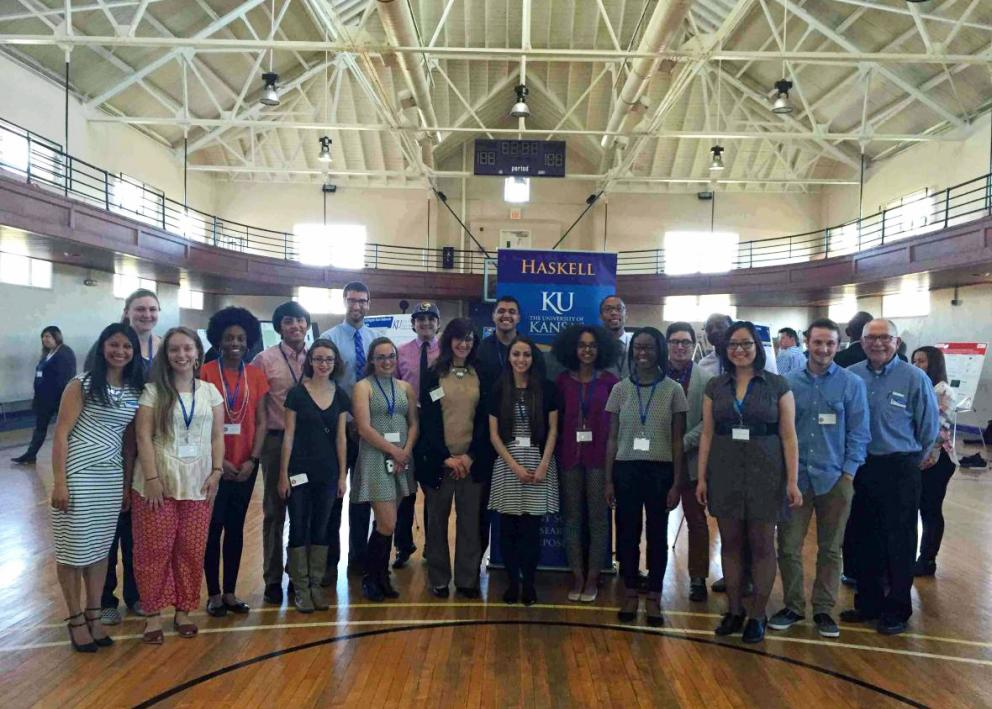 Group picture of the KU/Haskell Undergraduate Research Symposium participants