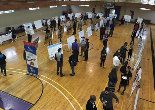 KU/Haskell Undergraduate Research Symposium poster session
