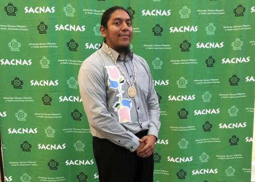 Participant poses for picture at 2020 SACNAS Conference